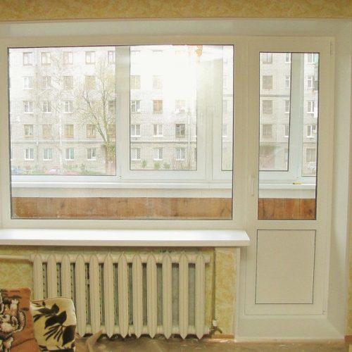 Установка балконных дверей ПВХ