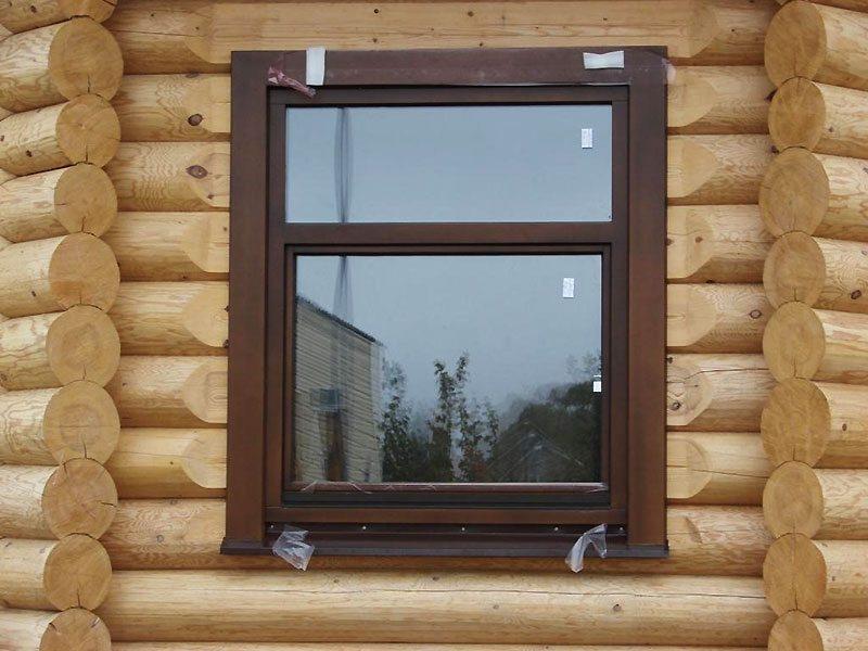Установка пластиковых окон в деревянном доме